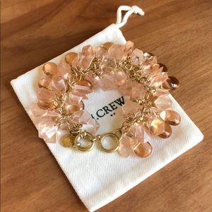 J. Crew pink translucent bracelet beads stones